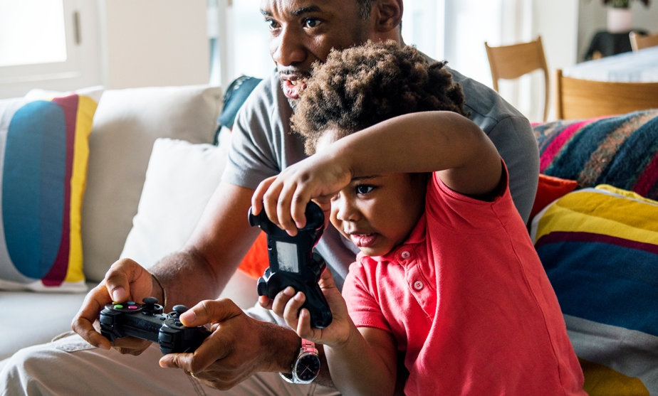Dad-and-Son-play-videogames